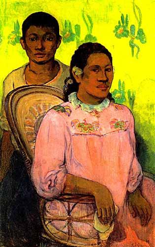 1898 Tahitili Kadın ve Erkek Çocuk adlı tablosunun sahibi : Paul Gauguin