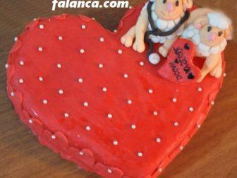 tasarim kalp pasta  336x252 - Özel Tasarım Pasta ve Kurabiyeler