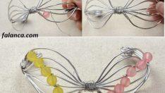 Telden boncuklu fiyonk bileklik yapımı
