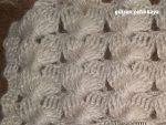 Tığ İşi Deniz Kabuğu Yelek Örneği - 3