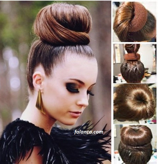 Saç süngeri ile saç modelleri ve yapımı