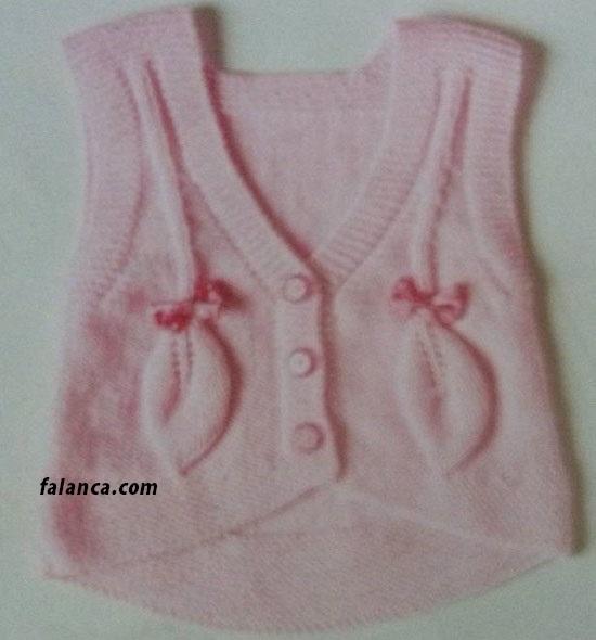 Yaprakli Bebek Kiz Bebek Yelegi Yapilisi 1