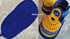 Yazlık örgü çocuk ayakkabısı yapımı
