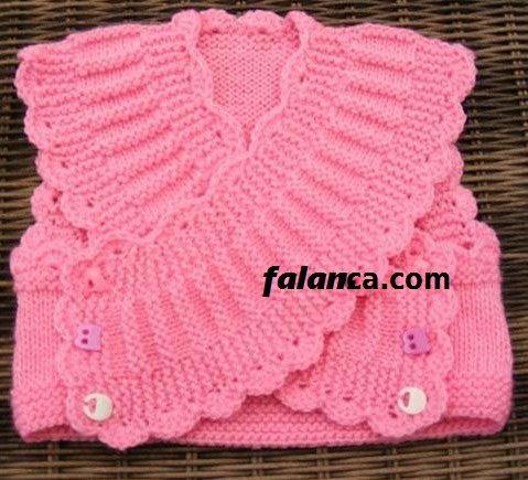 Kız Bebek Yeni Doğan Bebek Yeleği 2