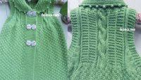 Yeşil Bebek Yeleği Yapılışı
