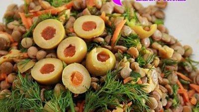 Yeşil Mercimek Salatası Yapılışı