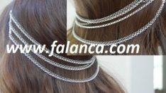 Zincirli sarkık Saç Tokası